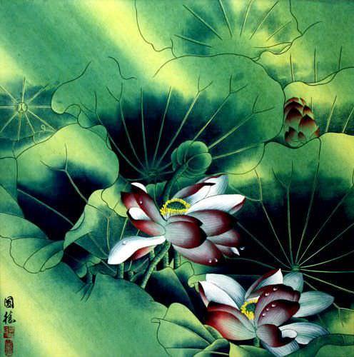 Aqua Dreams - Beautiful Flowers Painting
