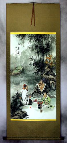 High Quality White Tea<br>Wall Scroll