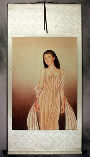 Beautiful Woman - Contemporary Chinese Art Wall Scroll