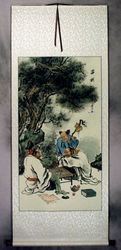 Chinese Weiqi Chess<br>Ancient Style Wall Scroll