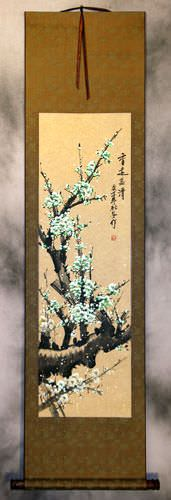 Green Plum Blossom<br>Asian WallScroll
