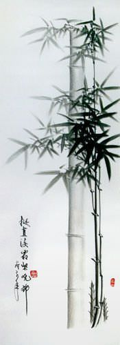"See how ""Charcoal Chinese Bamboo Artwork"" would look after being professionally framed"
