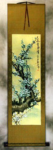 Green Plum Blossom Wall Scroll