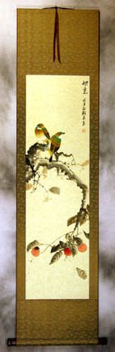 Autumn Feeling<br>Bird and Flower Wall Scroll