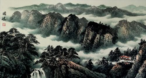Guilin Li River<br>Chinese Landscape Painting