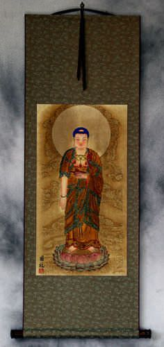 The Buddha Shakyamuni<br>Partial-Print<br>Chinese Wall Scroll