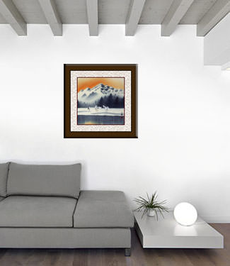 Tian Mountain Snowscape Asian Landscape Painting living room view