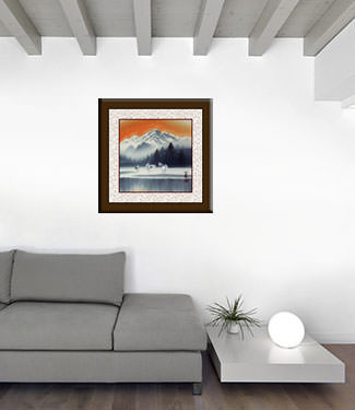 Tian Mountain Snowscape Painting living room view