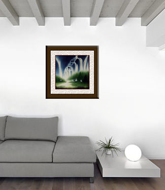 Song of the Spring Waters Landscape Painting living room view
