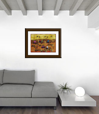 Golden June - Chinese Folk Art Painting living room view