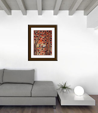 Autumn Day - Folk Art Painting living room view