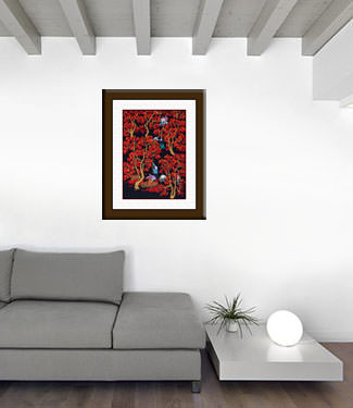 Picking Jujubes - Chinese Folk Art Painting living room view