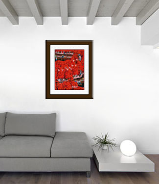 Jujube Village - Chinese Peasant Folk Art Painting living room view