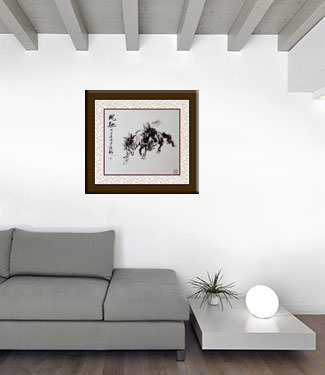 Chinese Horse Painting living room view