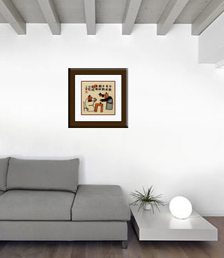 Drink Up Today, Worry Tomorrow - Chinese Story Art living room view