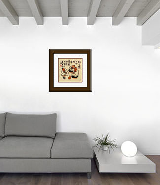 Three Friends - Chinese Philosophy Painting living room view