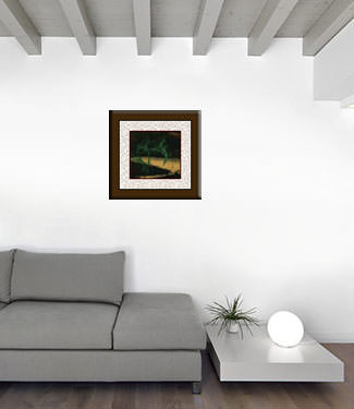 Abstract Bamboo at Twilight - Chinese Painting living room view