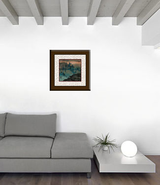 Twilight Bamboo - Chinese Landscape Painting living room view