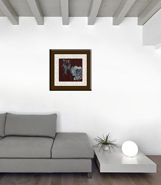 Abstract Frosty Bamboo - Chinese Painting living room view