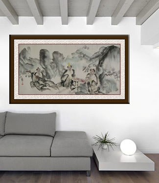 Jiang Feng's Abstract Chinese Art living room view