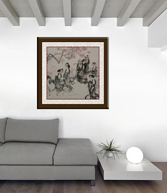 Jiang Feng's Gathering of the Nobles - Abstract Chinese Art living room view
