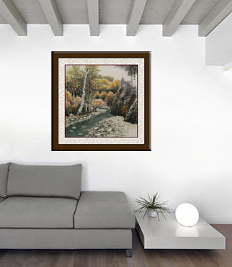 Overflow of Autumn Colors - Landscape Painting living room view