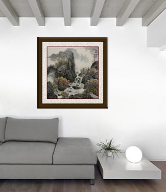 China Landscape Painting living room view