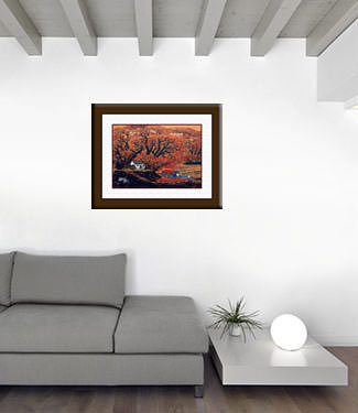 Fruit Transporter - Chinese Folk Art Painting living room view