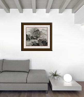 Chinese Landscape Painting living room view