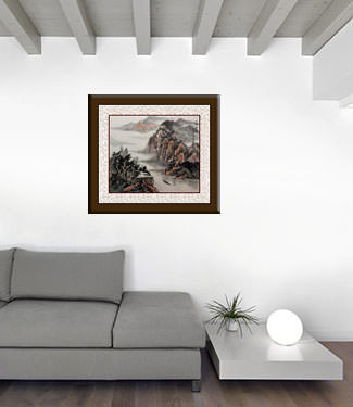 Flawed Chinese Landscape Painting living room view