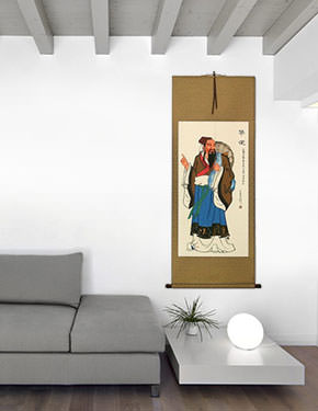 The Great Doctor of Ancient China - Wall Scroll living room view