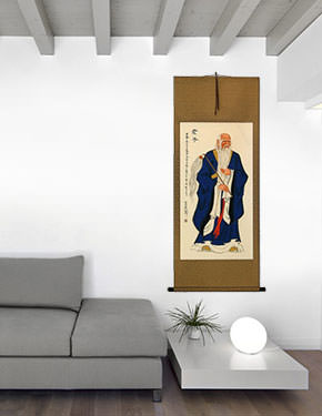 Confucius - Man of Wisdom - Wall Scroll living room view