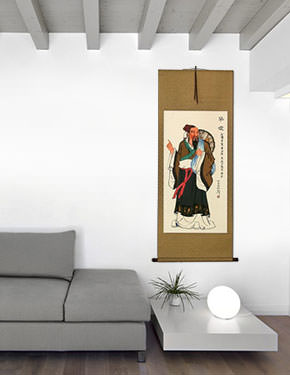 The First Physician of Ancient China - Wall Scroll living room view