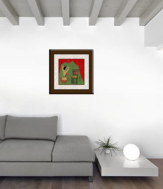 Lady Preparing for Bath - Chinese Modern Art Painting living room view