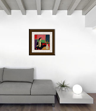 Chinese Woman - After Bath - Modern Art Painting living room view