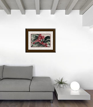 Chinese Flower Painting living room view