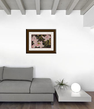 Flowers and Cricket Abstract Chinese Art living room view