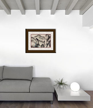Abstract Chinese Painting living room view