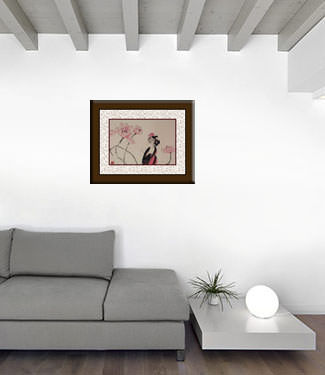 Jiang Feng's Abstract Asian Artwork living room view