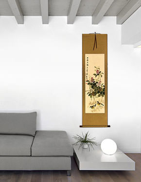 Everyday is Fun at the Ranch - Chinese Art Wall Scroll living room view