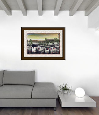 Birds Over Suzhou - Chinese Venice Painting living room view