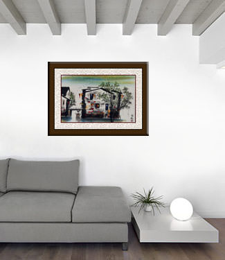Bridge of Suzhou - Chinese Venice Painting living room view
