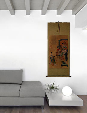 Musicians - Partial-Print Wall Scroll living room view