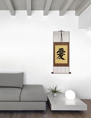 Low Price LOVE Symbol Wall Scroll living room view