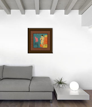 Lady in the Bath - Asian Modern Art Painting living room view
