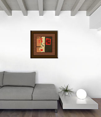 Chinese Woman Selling Candied Fruit - Modern Art Painting living room view