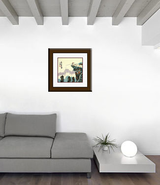 Go Fishing in the Mountains - Chinese Philosophy Painting living room view