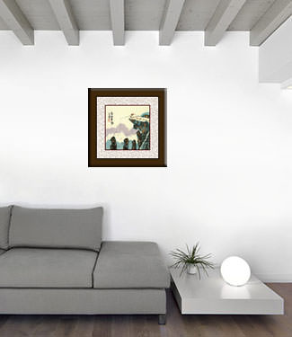 Go Fishing in the Mountains - Chinese Philosophy Proverb Painting living room view