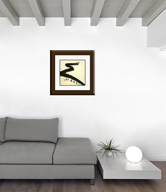 Gone Fishing for Life - Ancient Chinese Philosophy Art living room view