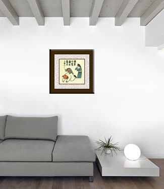 The Mighty Army General & Family Man - Chinese Philosophy Art living room view